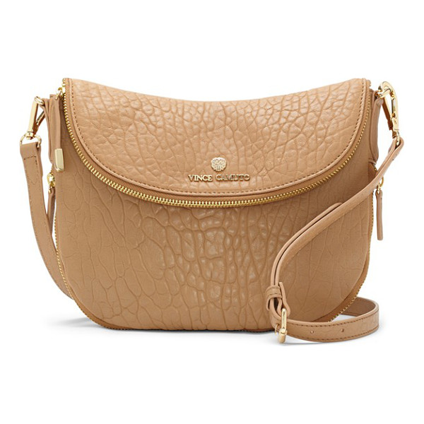 VINCE CAMUTO Rizo leather crossbody bag - A slightly slouched profile and richly textured leather...