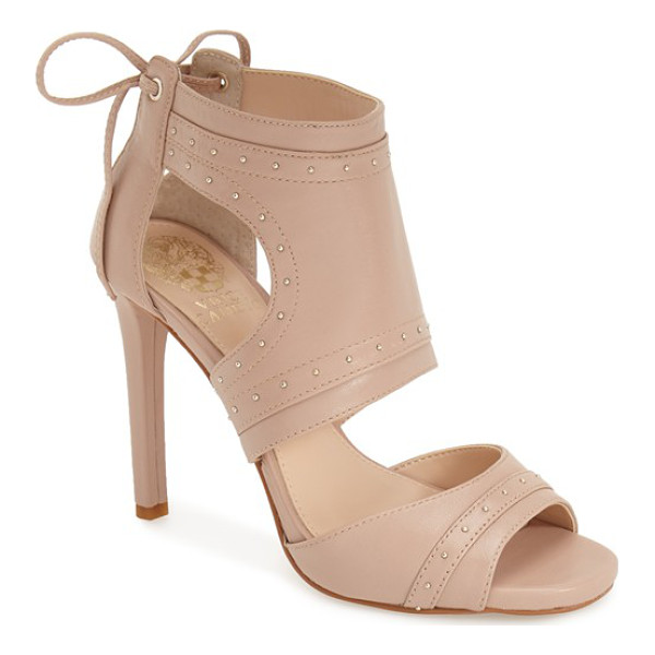 VINCE CAMUTO roux studded sandal - Tiny goldtone studs add an edgy upgrade to a street-chic...