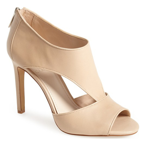 VINCE CAMUTO seena leather sandal - Curvaceous cutouts lend standout modern style to an...