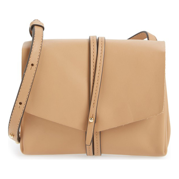 VINCE CAMUTO Tuck leather crossbody bag - A slim crossbody bag cut from supple leather makes for a...