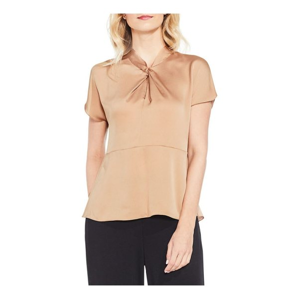 VINCE CAMUTO twist mock neck blouse - A twisted detail at the neckline is the elegant focal point...