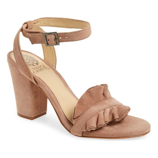 VINCE CAMUTO vinta sandal - A ruffled strap adds dimensional sophistication to this...
