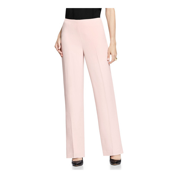VINCE CAMUTO wide leg pants - Ballet-pink pants cut with a flowing wide-leg silhouette...