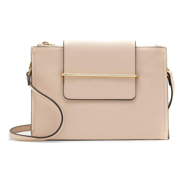 VINCE CAMUTO zarin leather crossbody bag - Smooth goldtone hardware highlights the clean, classic