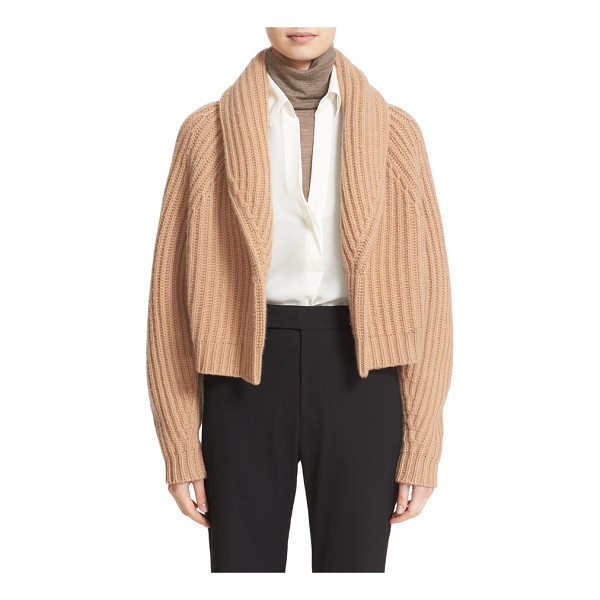 VINCE crop wool & cashmere cardigan - Sumptuously cozy, a shawl-collar cardigan modernized in a...