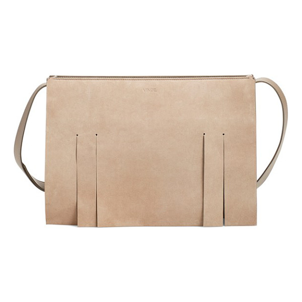 VINCE Medium fringe suede shoulder bag - Vince takes the fringe trend and makes it sleek,...
