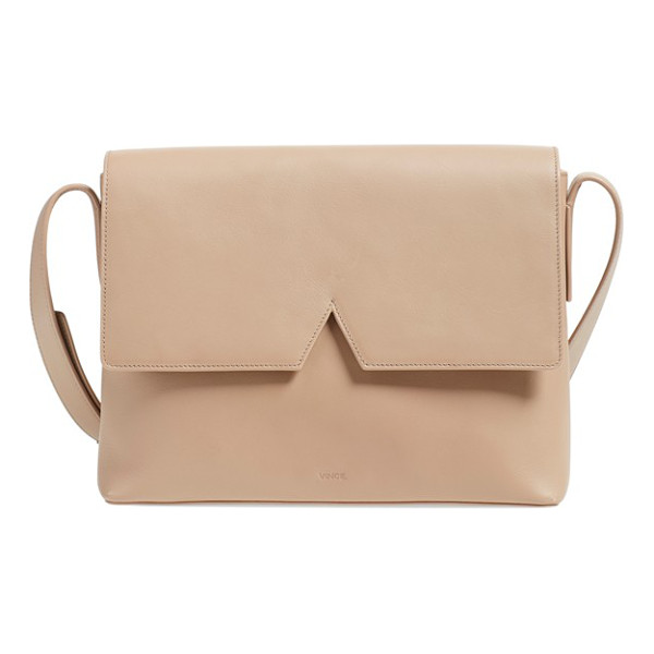 VINCE Medium signature leather crossbody bag - Crafted from a single piece of Italian leather, this...