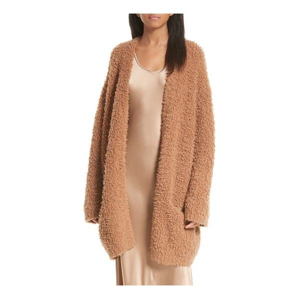 VINCE wool blend teddy cardigan - Like a wearable hug, this shaggy wool-and-cashmere-blend...