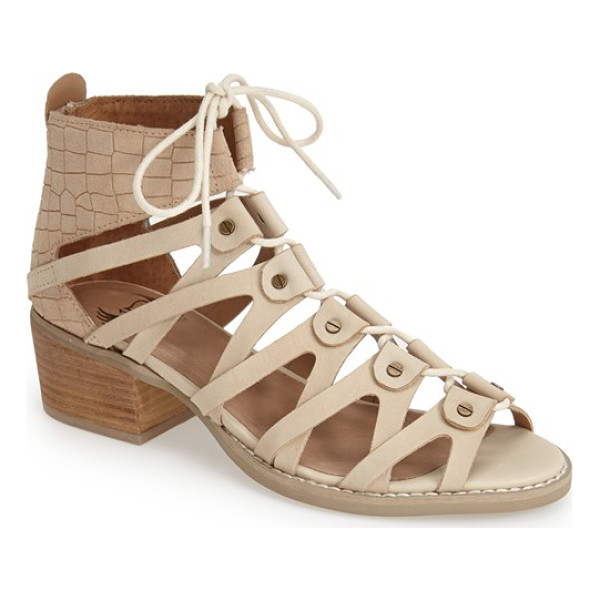VON DUTCH tightenup sandal - A sleek lace-up silhouette adds to the gladiator-inspired...