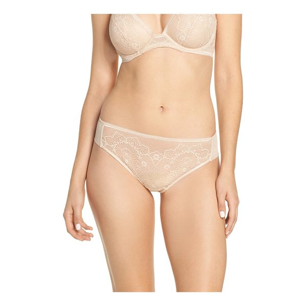 WACOAL basic benefits tanga - Romantic lace and an easy fit update this chic everyday...