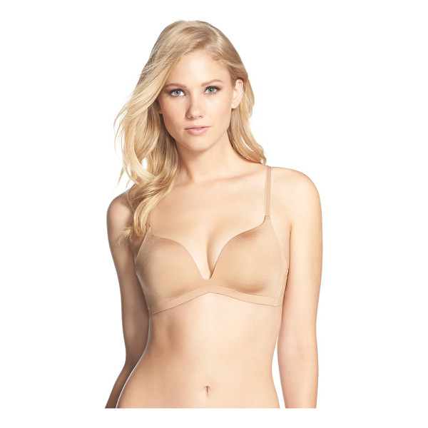 WACOAL intuition wireless push-up bra - The sleek, modern styling of a soft-cup bra designed with...