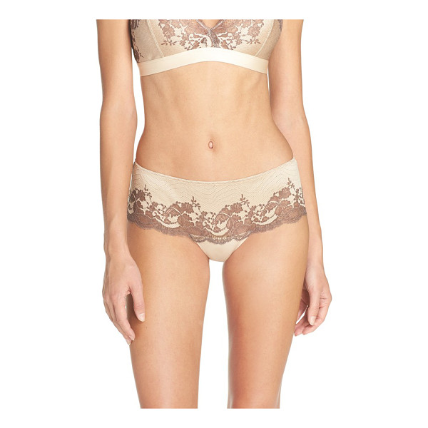 WACOAL lace affair tanga - Cross-dyed lace creates an eye-catching look for these...