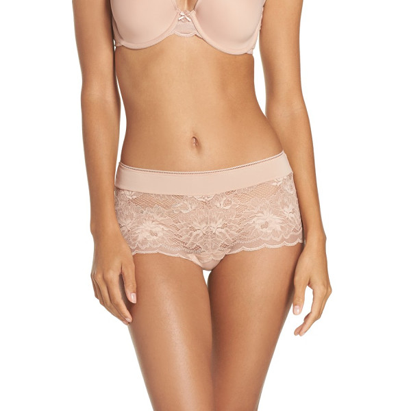 WACOAL lace boyshorts - Sheer lace with a cheeky backside update these chic...
