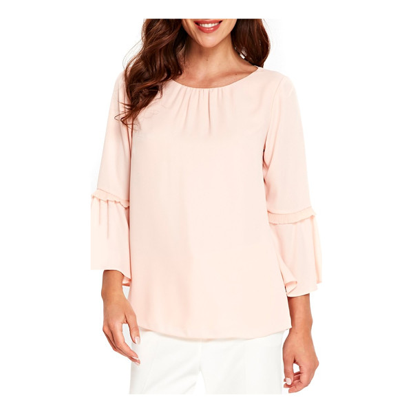 WALLIS happy days flute sleeve blouse - Fluttery flared cuffs accented with pertly pleated trim...