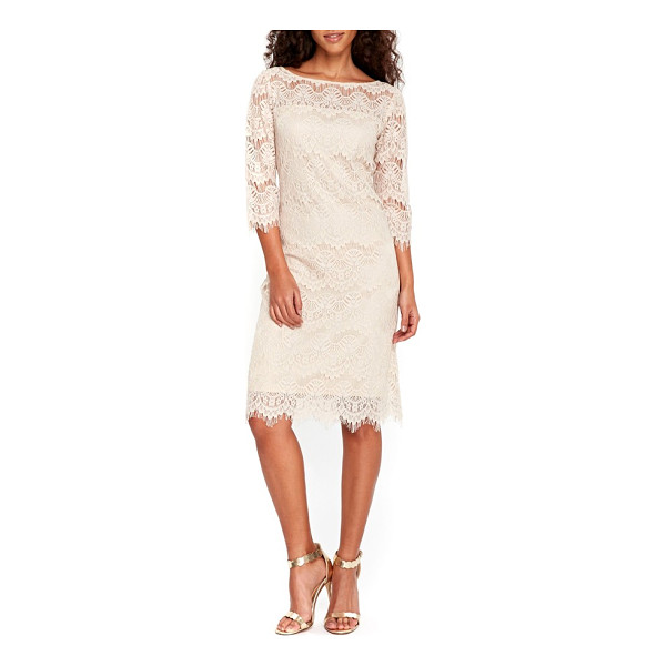 WALLIS scallop lace dress - A gently fitted silhouette defines a romantic bateau dress...