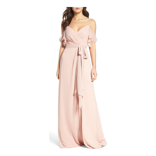 WATTERS aldridge a-line chiffon gown - Crafted from smooth and lightweight chiffon, this romantic...