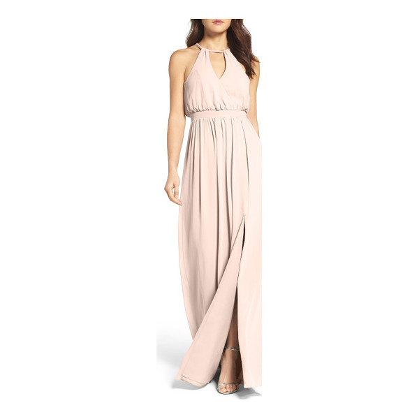 WATTERS fleurette a-line chiffon gown - An effortless combination of the feminine with the modern,...