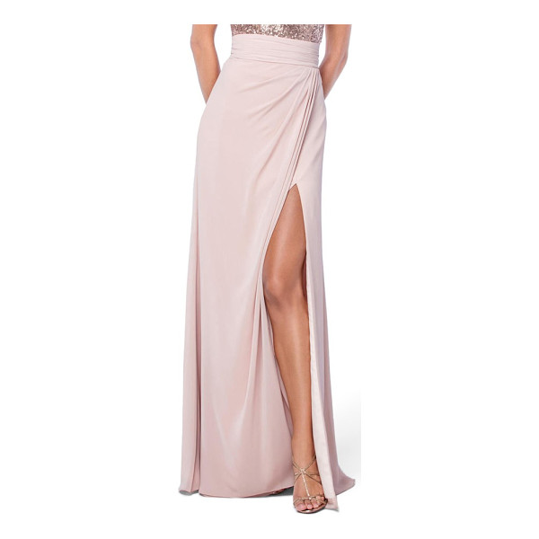 WATTERS natasha skirt - Made from floaty chiffon, this floor-sweeping skirt with a...