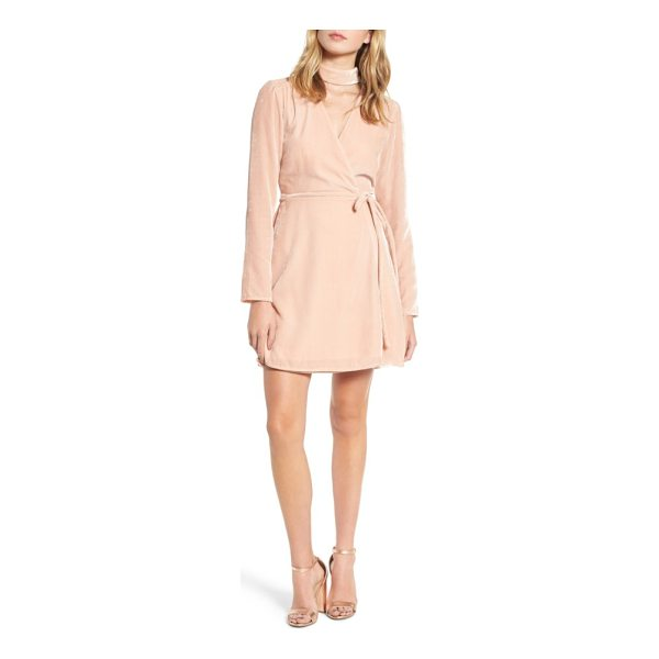 WAYF elroy choker collar wrap dress - Lustrous velour and wrap styling spin a cool retro vibe on...