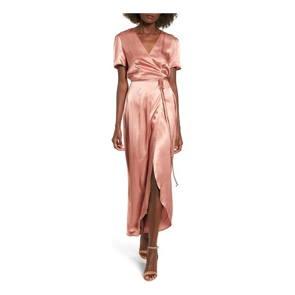 WAYF gwyneth wrap maxi dress - Add the instant glam of silky satin to any occasion in this...