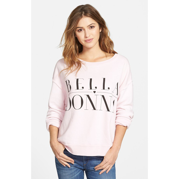 WILDFOX bella donna pullover sweatshirt - Look as lovely as can be in a fleecy, stylishly oversized...