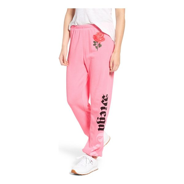 WILDFOX mega chic jack jogger pants - Oversized and easy fitting, these fleece joggers look too...