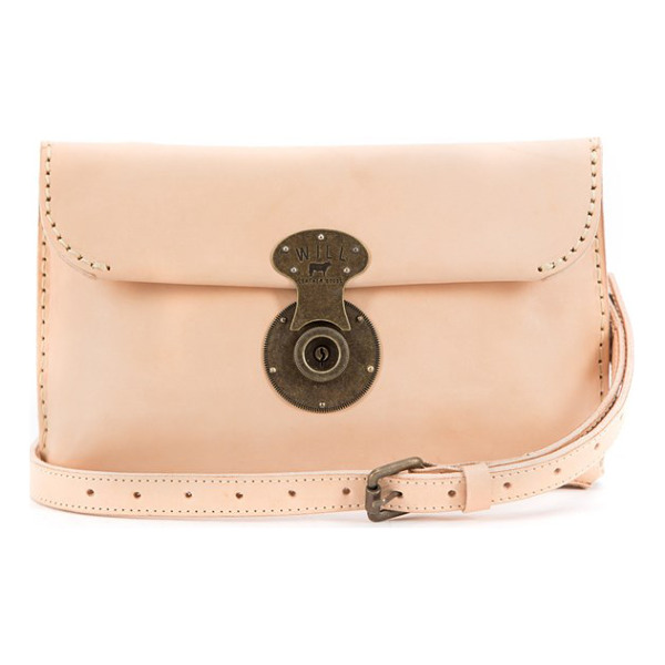 WILL LEATHER GOODS Eva leather clutch - A replica 1920s lock adds to the vintage appeal of a...