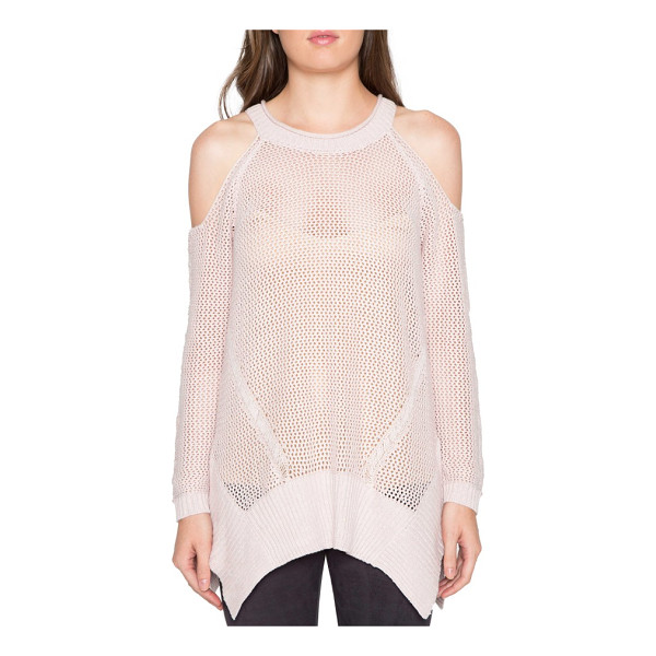 WILLOW & CLAY cold shoulder sweater - This sheer, loosely knit sweater is perfect for layering...