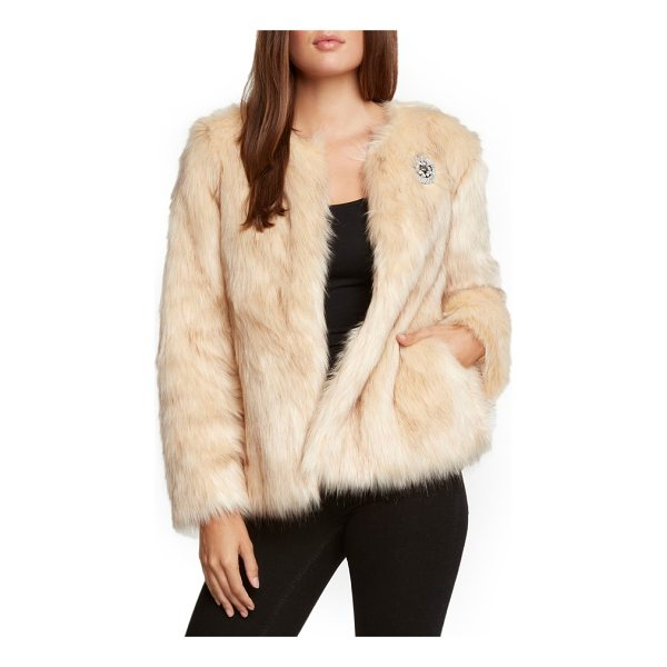 WILLOW & CLAY faux fur jacket - Wrap yourself in the softest surroundings with this plush...