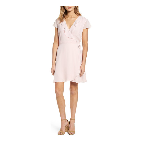 WILLOW & CLAY ruffle wrap dress - Gentle ruffles add subtle movement to a refreshing,...