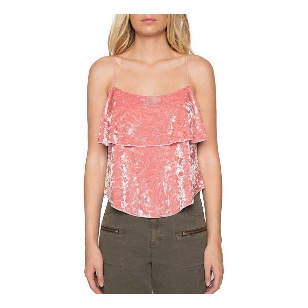 WILLOW & CLAY velvet camisole - This ladylike velvet camisole in a rosy shade of pink makes...