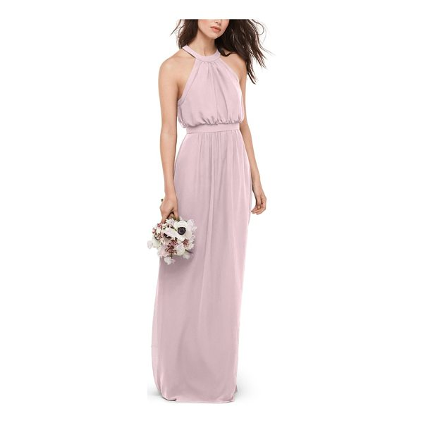 WTOO blouson chiffon gown - This pretty chiffon gown flatters most every figure with...