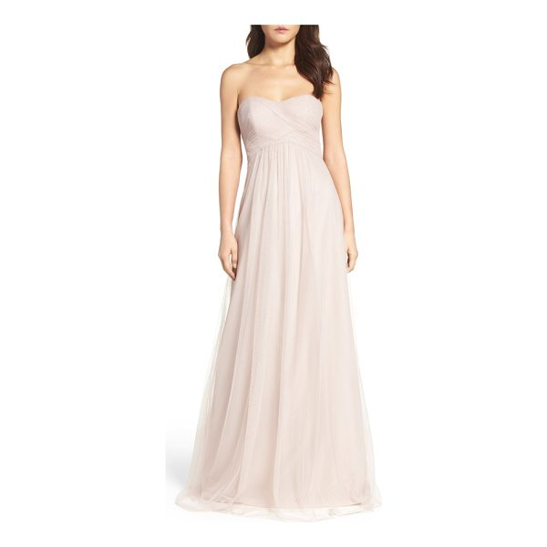 WTOO strapless tulle gown - This gorgeous gown with a fitted, crisscrossed bodice is...