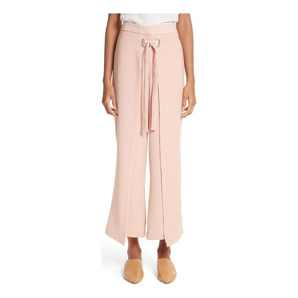 YIGAL AZROUEL tie front wrap pants - Cropped, tailored trousers get a fashion-forward update...
