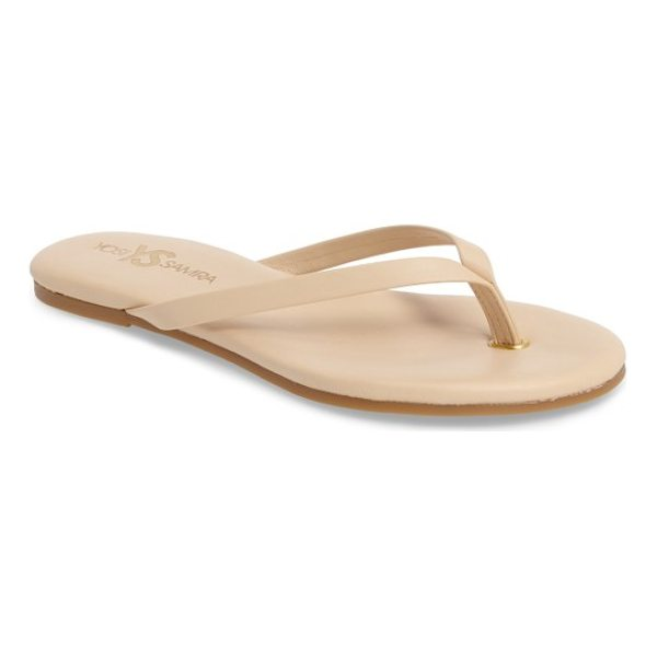 YOSI SAMRA rivington flip flop - An ultra-cushy footbed and sleek leather straps distinguish...