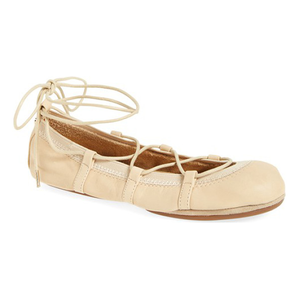 YOSI SAMRA seleste foldable ballet flat - Ghillie laces perfect the fit of a soft flat designed to...