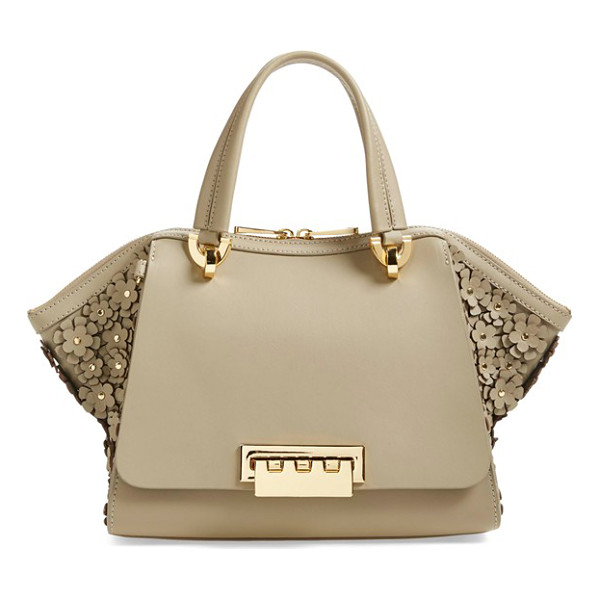 ZAC ZAC POSEN Small eartha embellished leather top handle satchel - A sophisticated fusion of vintage influence and modern...