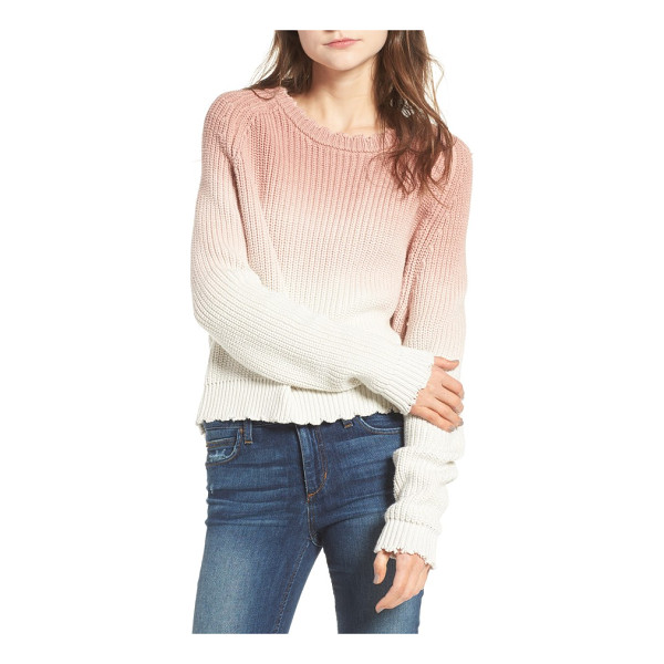 ZADIG & VOLTAIRE kary cow ombre sweater - Dip-dyed for a lovely ombre effect, this chunky-knit...