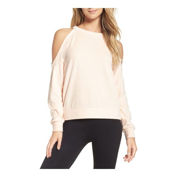 ZELLA cara velour cold shoulder top - Like your favorite top and sweatshirt combined, this velour...