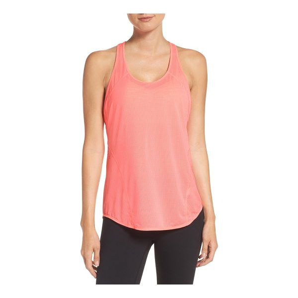 ZELLA pace tank - A perforated knit keeps air flowing through this drapey...
