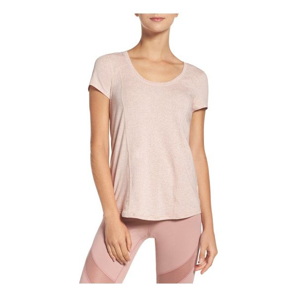 ZELLA 'siesta' studio tee - A scooped neck, contoured seams and rounded high/low hem...