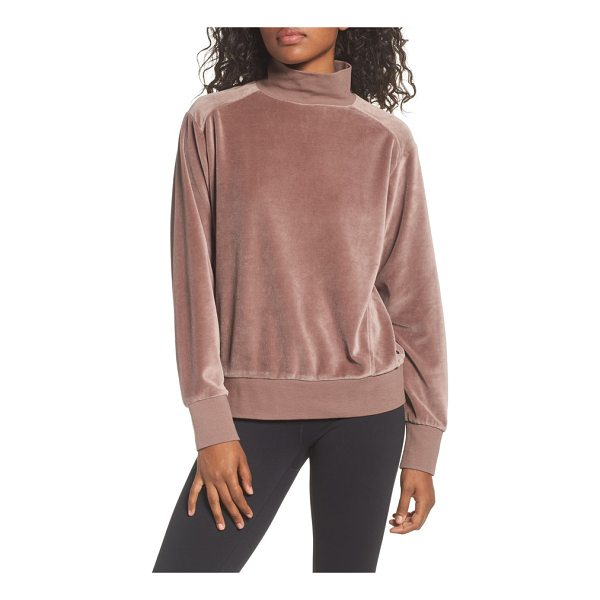 ZELLA velour mock neck top - This supersoft velour mock-neck top is perfect for getting...