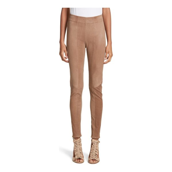 ZERO + MARIA CORNEJO lambskin leather skinny pants - Front and back seams accentuate the figure-hugging fit of...