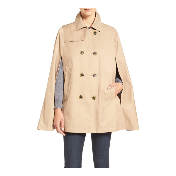 ZZDNU CECE lily trench cape - The timeless trench takes new shape as a double-breasted...