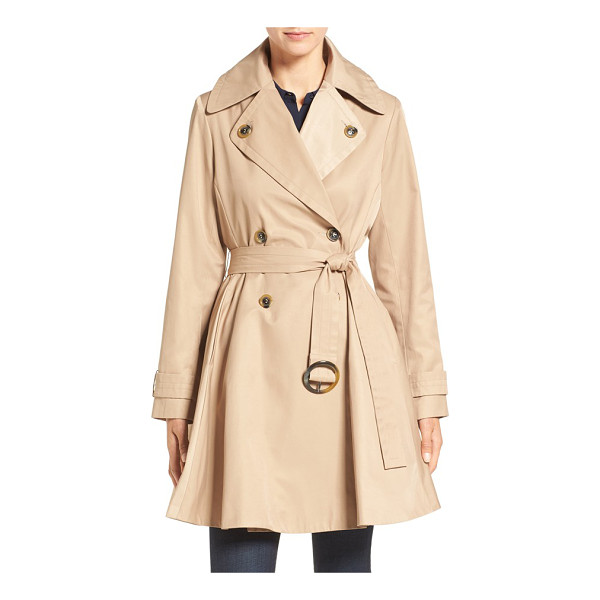 ZZDNU CECE 'sarah' belted skirted double breasted trench - A classic double-breasted trench makes a more feminine...