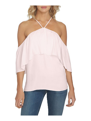 1.State 1. state halter neck ruffle blouse