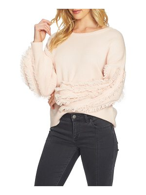 1.STATE Fringe Sleeve Sweater