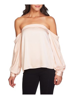 1.STATE Off The Shoulder Satin Top
