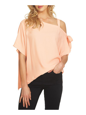 1.State one-shoulder tie sleeve blouse