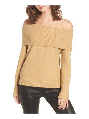 4SI3NNA Off The Shoulder Sweater